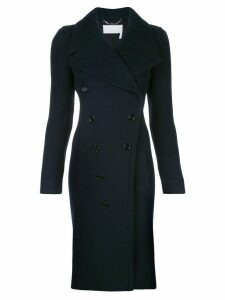 Chloé dual fabric double-breasted coat - Blue