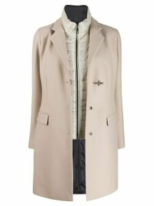 Fay double toggle single breasted coat - NEUTRALS