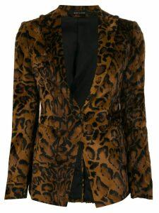 Tagliatore animal pattern blazer - Brown