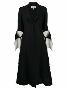 Loewe cut-out tie-sleeve coat - Black