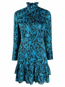 Sandro Paris brocade print short dress - Blue