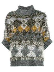 Fabiana Filippi diamond pattern jumper - Grey