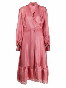 Stine Goya embroidered hem wrap dress - Pink