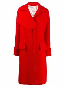 Victoria Beckham textured asymmetric lapel coat