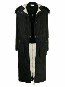 Patrizia Pepe long double-layered parka - Black