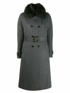 Moorer double breasted coat - Grey