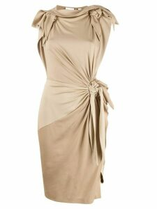 Burberry knot detail fitted dress - Neutrals
