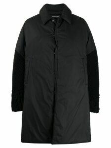 Undercover dual-fabric oversized coat - Black