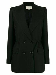 Gucci elastic waist detail blazer - Black