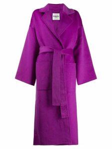 Essentiel Antwerp Truffle belted coat - Purple