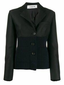 LANVIN dual-fabric blazer - Black