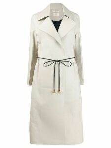 Bottega Veneta belted long coat - Neutrals