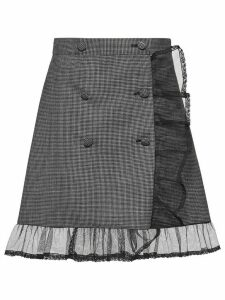 Miu Miu houndstooth a-line skirt - Grey