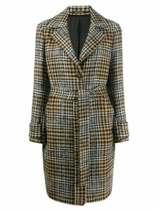 Tagliatore knee-length belted coat - Black