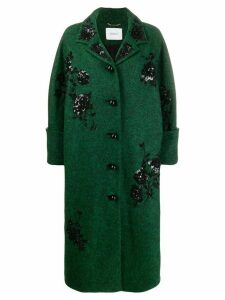 Erdem sequinned coat - Green
