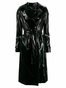 Philipp Plein vinyl trench coat - Black