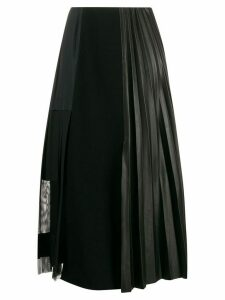 Dorothee Schumacher deconstructed pleated midi skirt - Black
