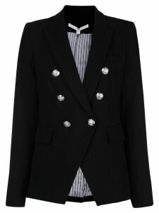 Veronica Beard fitted double breasted blazer - Black