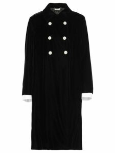 Miu Miu straight-fit double breasted coat - Black