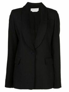 Gabriela Hearst shawl collar single breasted blazer - Black