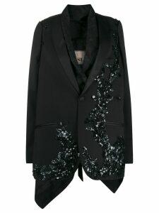 Antonio Marras sequined layered blazer - Black