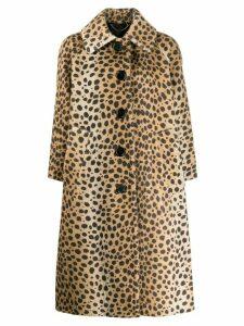 Marc Jacobs leopard print midi coat - Neutrals