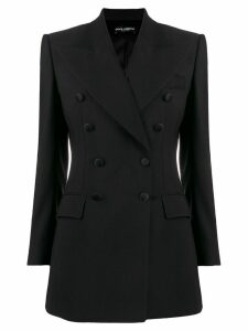 Dolce & Gabbana double-breasted longline blazer - Black