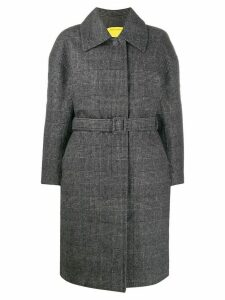 Ienki Ienki padded check belted coat - Grey