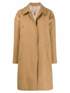 Nº21 mid-length single breasted coat - Brown