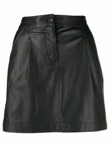 Patrizia Pepe faux-leather mini skirt - Black