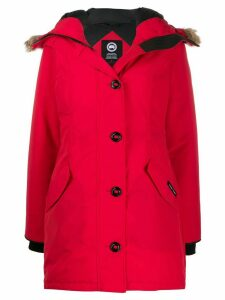 Canada Goose button down parka coat - Red