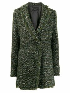 Fabiana Filippi tweed blazer - Green