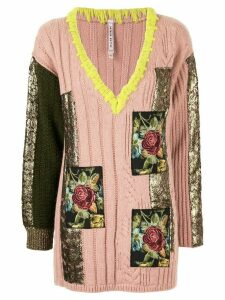 Antonio Marras patch-embellished jumper - Pink