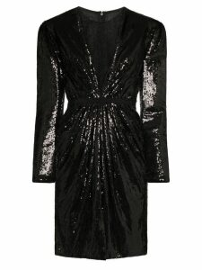 Giambattista Valli sequinned lace underlay mini dress - Black