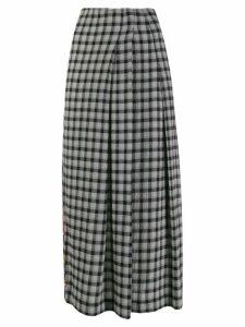 McQ Alexander McQueen contrast print midi-skirt - Grey