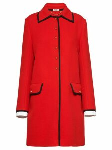 Miu Miu contrast trim coat - Red