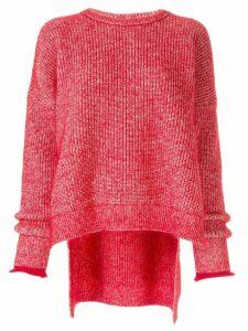 Enföld draped sleeve jumper - Red