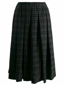 Apuntob pleated plaid skirt - Black