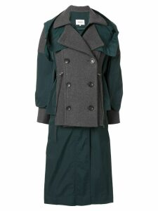 Enföld layered double-breasted coat - Grey