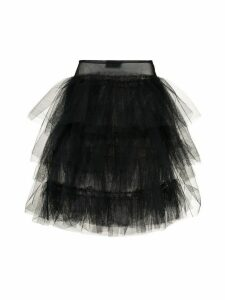 Simone Rocha asymmetric tulle panels skirt - Black