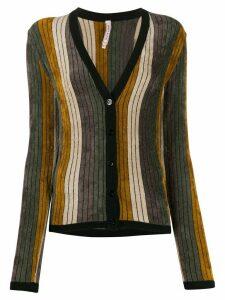 Antonio Marras striped V-neck cardigan - Grey