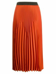Luisa Cerano elasticated pleated skirt - Orange