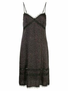 Kiki de Montparnasse dotted print slip dress - Black
