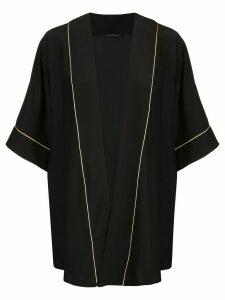 Kiki de Montparnasse contrast piped robe jacket - Black