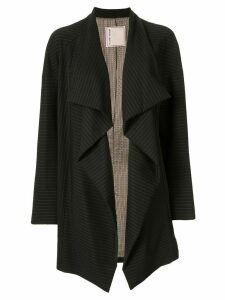 Antonio Marras side ruffle striped blazer - Black