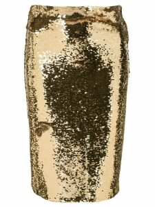 Alice+Olivia Ramos sequinned fitted skirt - Gold