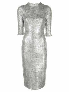 Alice+Olivia Delora fitted dress - Silver