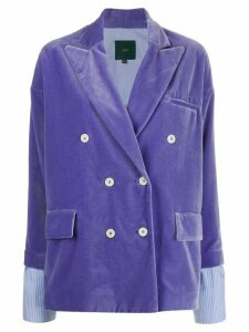 Jejia fitted double-breasted blazer - PURPLE