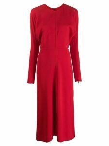 Victoria Beckham dolman sleeve midi dress - Red