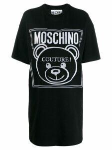 Moschino teddy bear logo T-shirt dress - Black